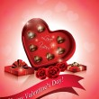 Royalty-Free Stock Vector Image: Valentine\'s Chocolate Hearts