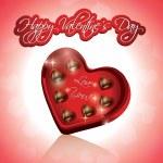 Valentine's Chocolate Hearts — Stock Vector