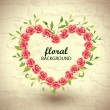 Royalty-Free Stock Vector Image: Roses Heart Frame