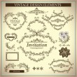 Vintage Design Elements Set — Stock Vector