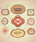 Étiquettes rétro et vintage — Vecteur