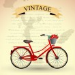 Stock Vector: Vintage bicycle