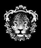 Leopard, T shirt design — Stock Vector