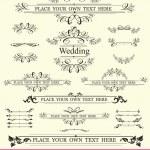 Vintage Wedding Elements — Stock Vector #6476164