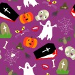 Royalty-Free Stock Vector Image: Colored halloween seamless pattern