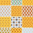 Royalty-Free Stock Vector Image: Set of bakery seamless patterns