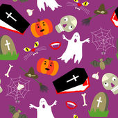 Colored halloween seamless pattern — Stock Vector