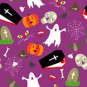 Cor padrão sem emenda de halloween — Vetorial Stock