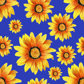 Hand-drawn dahlia flower pattern — Stock Photo