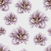 Hand-drawn vintage hibiscus pattern — Stock Photo