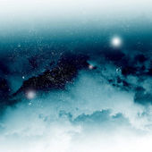 Starry sky through the clouds — Stock Photo