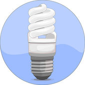 Economical fluorescent light bulb icon — Stock Vector