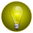 Bulb icon — Stock Photo