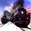 Stock Photo: High-speed locomotive