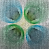 Drawing on fabric — Stock Photo