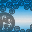 Hover clock background — Stok fotoğraf