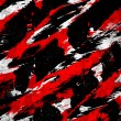 Abstract splatter paint black white red — Stock Photo