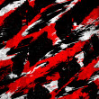 Abstract splatter paint black white red - 图库照片