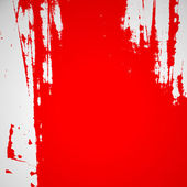 Ragged red paint, red scratches, red and white — Stock Photo