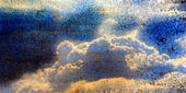 Retro clouds background, cumulus clouds — Stock Photo