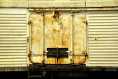 Grunge background rail car — Stock Photo
