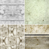 Set of grunge backgrounds with textures of old surfaces — Stock Photo