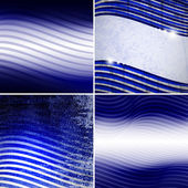 Raster set of backgrounds with stripes,wavy set of backgrounds — Stock Photo