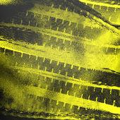 Fondo amarillo con la textura de la tela y cremalleras — Foto de Stock