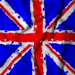 UK flag, waving the flag of Great Britain — Stock Photo