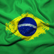 Stock Photo: Grunge Brazilian flag