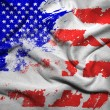 Stock Photo: Grunge flag of America, waving flags of America