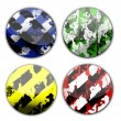 Industrial grunge icons buttons, button down industrial — Stock Photo