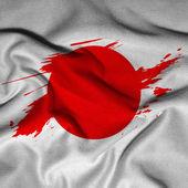Flag of Japan, waving flag of Japan — Stock Photo