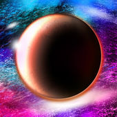 Mars in nebulae,Mars planet illustration — Stock Photo