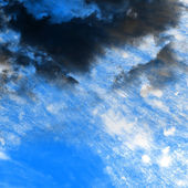 Raster grunge background with clouds — Stock Photo