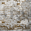 Shabby old brick wall with inscriptions — Stock Photo