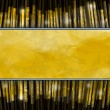 Yellow stripe on a dark background of the graphic lines of bulk gold — Stock Photo