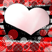 White hearts on a bright colored background with circles — Stock Photo