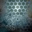 Abstraction with latticed circles — Stock Photo