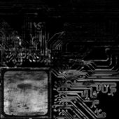 Grunge background computer circuit board — Stock Photo