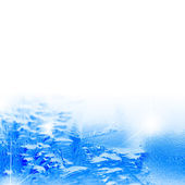 Ice surface on a white background — Stock Photo