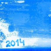 Background blue with the number of the new year — Stock Photo