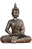 Buddha with green stones — Stock Photo