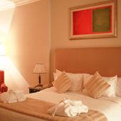 HOTEL BEDROOM — Stock Photo