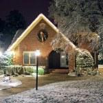 Christmas decorated cottage — Stock Photo #6850919