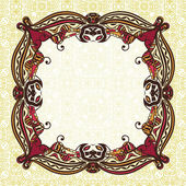 Vintage ornament floral pattern frame — Stock Vector
