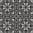 Black and white ornamental texture. Vector background - Stock Vector