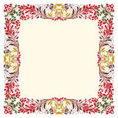 Art ornamental texture in frame. Vector background — Stock Vector