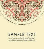 Art ornamental texture with sample text. Vector background — Stock Vector