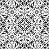 Black and white ornamental texture. Vector background — Stock Vector
